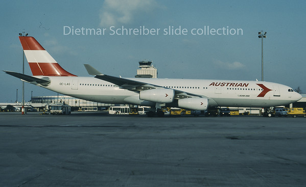 1996-02 OE-LAG Airbus A340-200 Austrian Airlines