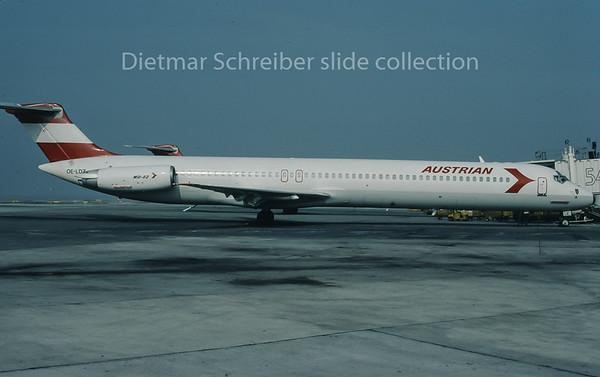 1996-04 OE-LDZ MDD MD80 Austrian Airlines