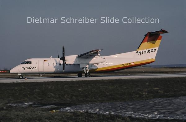 1996-04 OE-LLW Bombardier Dash 8-311 (c/n 309) Tyrolean Airways