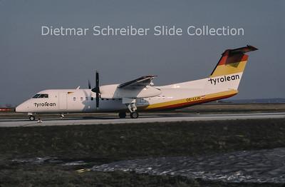 1996-04 OE-LLW Dash DHC8-300 Tyrolean Airways