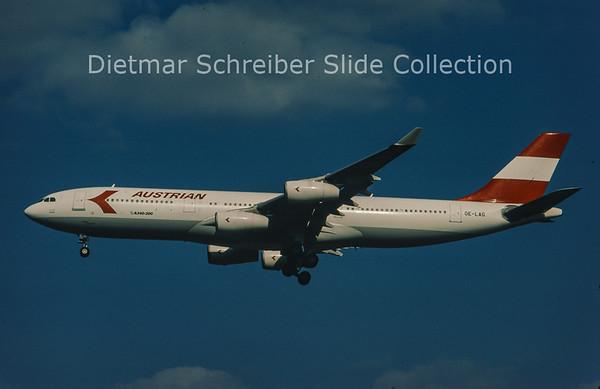 1997-03 OE-LAG Airbus A340-212 (c/n 75) Austrian Airlines