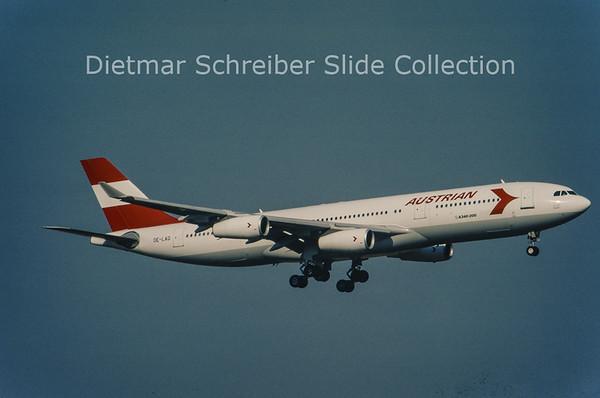 1996-04 OE-LAG Airbus A340-212 (c/n 75) Austrian Airlines
