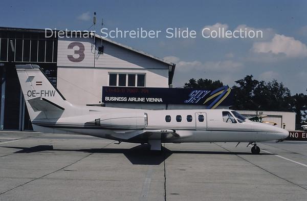 1996-05 OE-FHW Cessna 501 Citation 1 (c/n 501-0121) Comtel Air