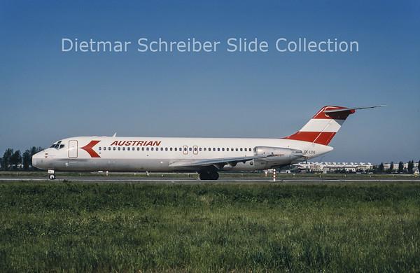 1985-05 OE-LDG Douglas DC9-32 (c/n 47484) Austrian Airlines