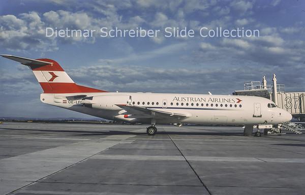1998-07 OE-LFQ Fokker F28-0070 (Fokker 70) (c/n 11568) Austrian Airlines