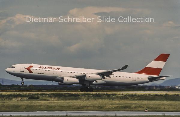 1996-06 OE-LAG Airbus A340-212 (c/n 75) Austrian Airlines