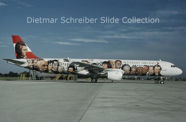 1997-07 OE-LBB Airbus A321-111 (c/n 570) Austrian Airlines