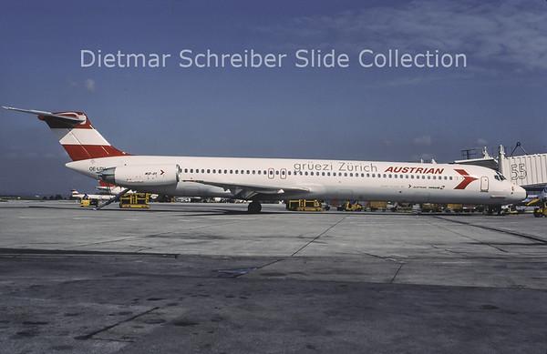 1996-07 OE-LDV MDD MD80 Austrian Airlines