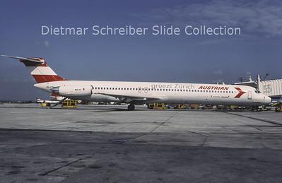 1996-07 OE-LDV MDD MD81 (c/n 48020) Austrian Airlines