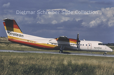 1996-07 OE-LLY Bombardier Dash 8-311A (c/n 370) Tyrolean Airways