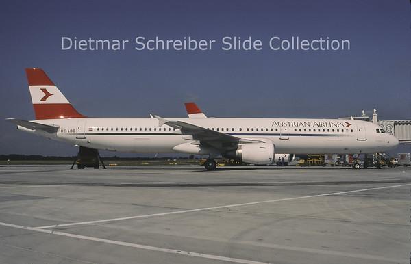 1996-07 OE-LBC Airbus A321 Austrian Airlines