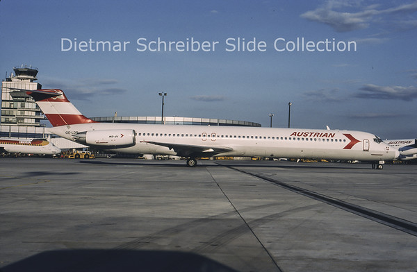 1996-07 OE-LDR MDD MD80 Austrian Airlines