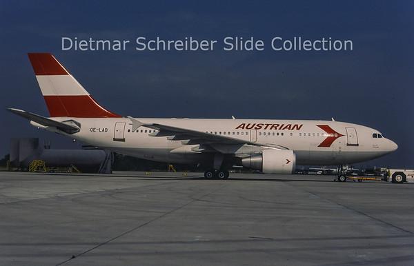 1996-07 OE-LAD Airbus A310-325ET (c/n 624) Austrian Airlines