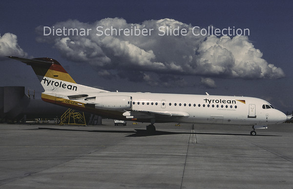 1996-07 OE-LFH Fokker 70 Tyrolean Airways