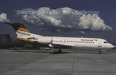 1996-07 OE-LFH Fokker F28-0070 (Fokker 70) (c/n 11554) Tyrolean Airways