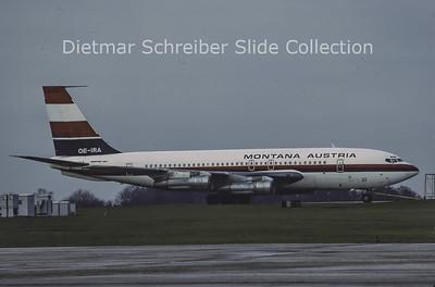1979-04 OE-IRA Boeing 707-138B (c/n 18068) Montana Austria