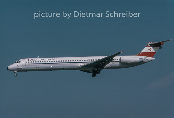 1996-08 OE-LDU MDD MD80 Austrian Airlines