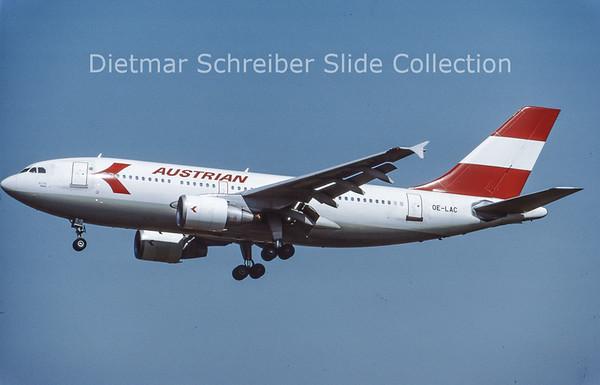 OE-LAC Airbus A310-324 (c/n 568) Austrian Airlines