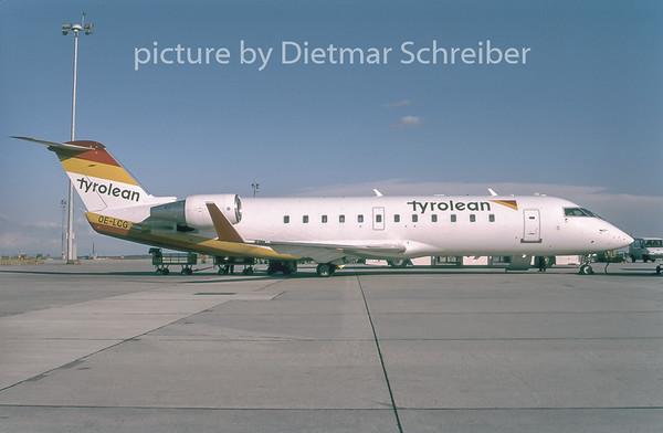 1996-09 OE-LCG Canadair Regionaljet 200 Tyrolean Airways