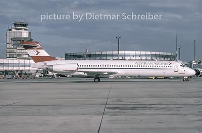 1996-09 OE-LMN MDD MD87 Austrian Airlines