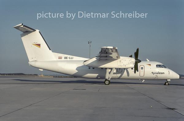 1996-09 OE-LLI Dash DHC8-100 Tyrolean Airways