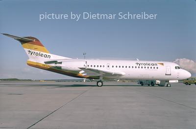 1996-09 OE-LFH Fokker 70 Tyrolean Airways