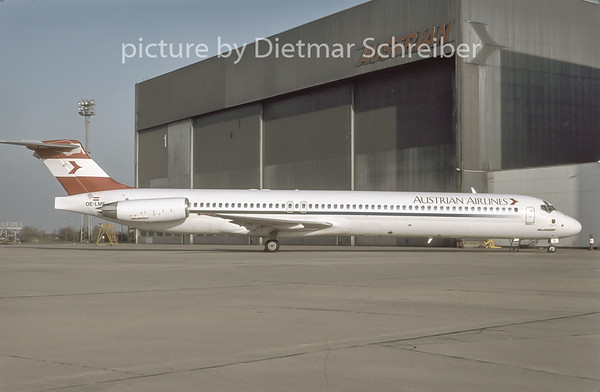 1996-11 OE-LME MDD MD80 Austrian Airlines
