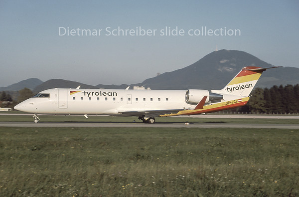 1996-10 OE-LCI Canadair Regionaljet 200 Tyrolean Airways