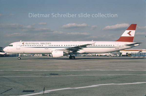 1996-05 OE-LBB Airbus A321 Austrian Airlines