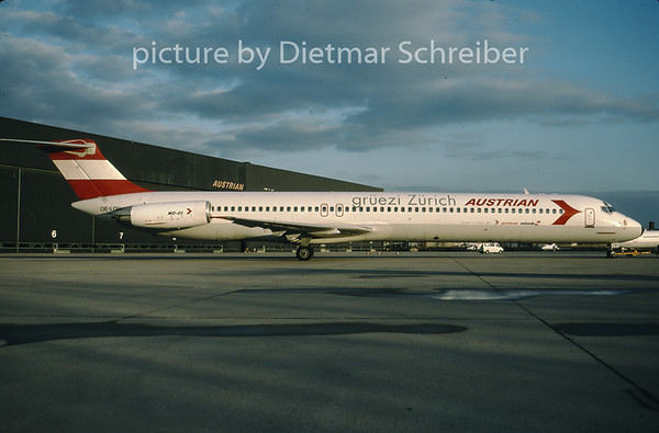 1996-12 OE-LDV MDD MD80 Austrian Airlines