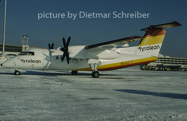 1997-01 OE-LLJ Dash DHC8-100 Tyrolean Airways