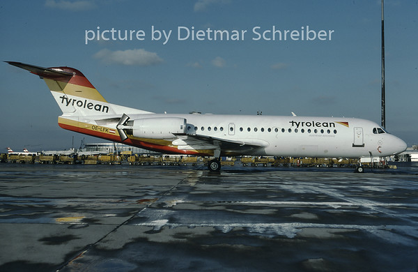 1997-02 OE-LFK Fokker 70 Tyrolean Airways
