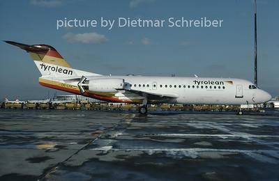 1997-02 OE-LFK Fokker 70 Tyrolean Airways