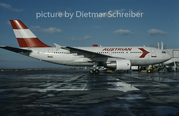 1997-02 OE-LAD Airbus A310 Austrian Airlines
