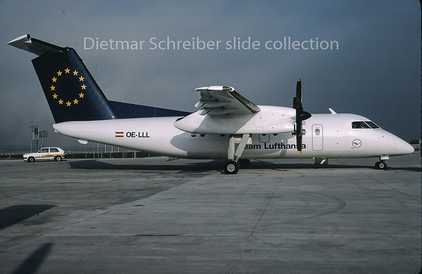 1996-12 OE-LLL Dash DHC8-100 Augsburg Airways