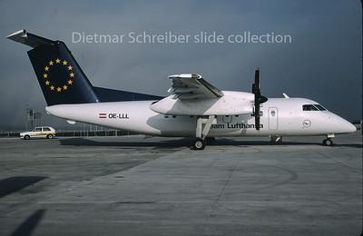 1996-12 OE-LLL Dash DHC8-100 Augsburg Airways
