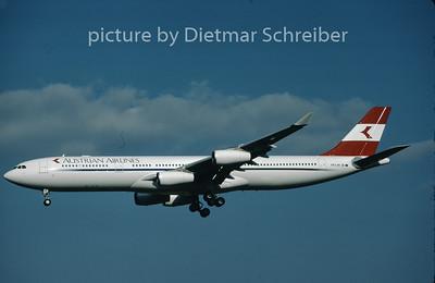 1997-05 OE-LAK Airbus A340-300 Austrian Airlines