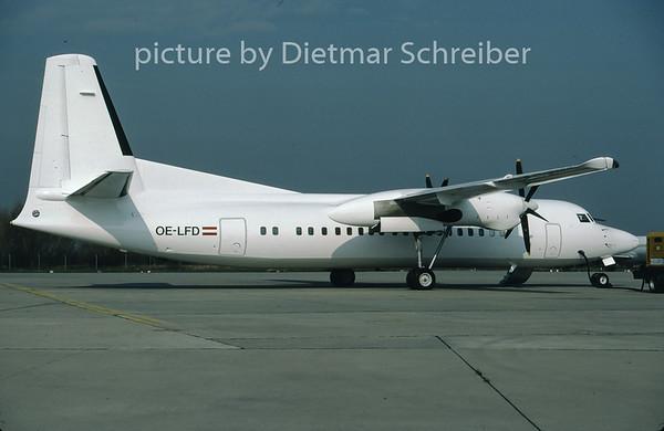1997-04 OE-LFD Fokker 50 Tyrolean Airways