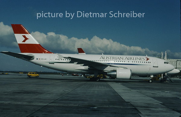 1997-04 OE-LAC Airbus A310 Austrian Airlines