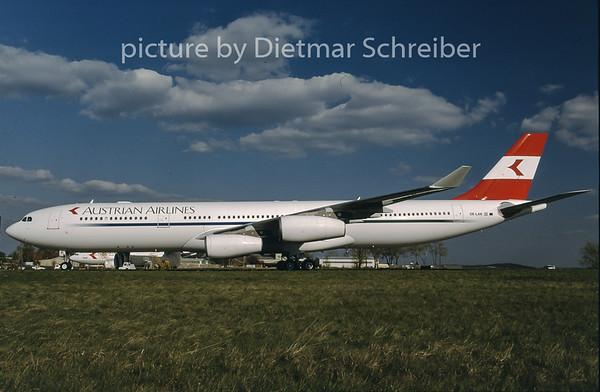 1997-08 OE-LAK Airbus A340-300 Austrian Airlines