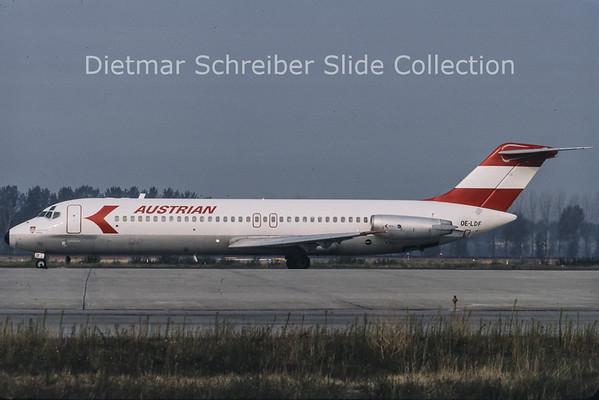 1985-09 OE-LDF Douglas DC9-32 Austrian Airlines
