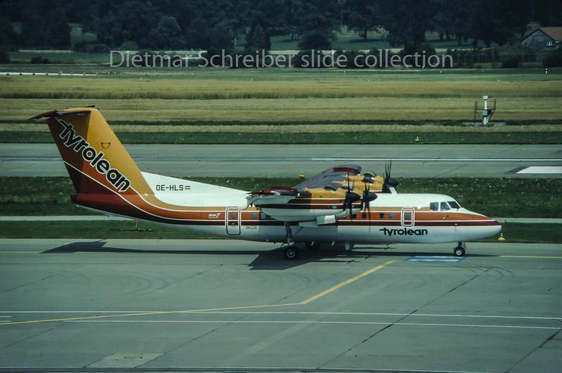 1980-08-15 OE-HLS Dash DHC7 Tyrolean Airways