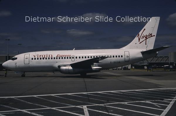 1997-05 G-BECG Boeing 737-200 Virgin Express