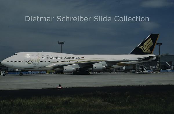 1997-05 9V-SMZ Boeing 747-412 (c/n 26549) Singapore Airlines