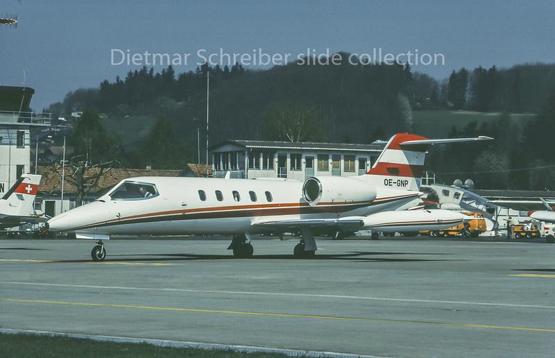 1981-04 OE-GNP Learjet 35 Viennair Polsterer Jets