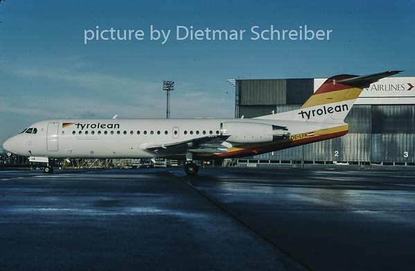 1998-01 OE-LFK Fokker 70 Tyrolean Airways