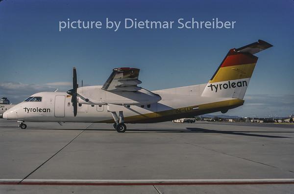 1998-01 OE-LLH Dash DHC8-100 Tyrolean Airways