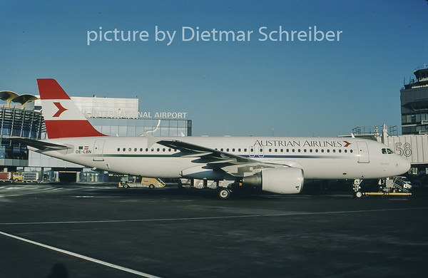 1998-02 OE-LBN Airbus A320 Austrian Airlines