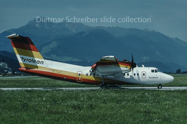 1988-07-21 OE-LLT Dash DHC7 Tyrolean Airways