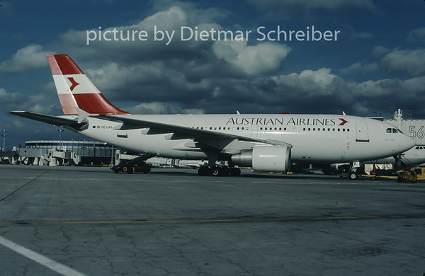 1997-11 OE-LAA Airbus A310 Austrian Airlines